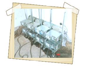 Po odstranění dřevěné podlahy sanace obvodového zdiva mikrovlnami