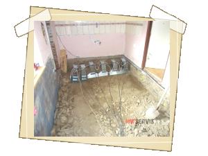 Sanace odtěženého a vyvezeného podloží podlahy