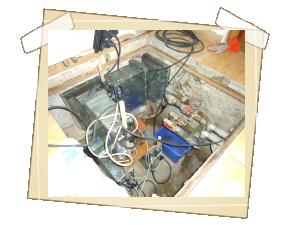 ...a po chemické sanaci, mechanickém očištění a během sanací mikrovlnnými generátory