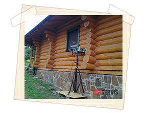 Lokální ošetření dřevěného srubu na východním Slovensku
