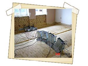 Sanace zdiva a podlahy rodinného domu na Prostějovsku napadených dřevomorkou